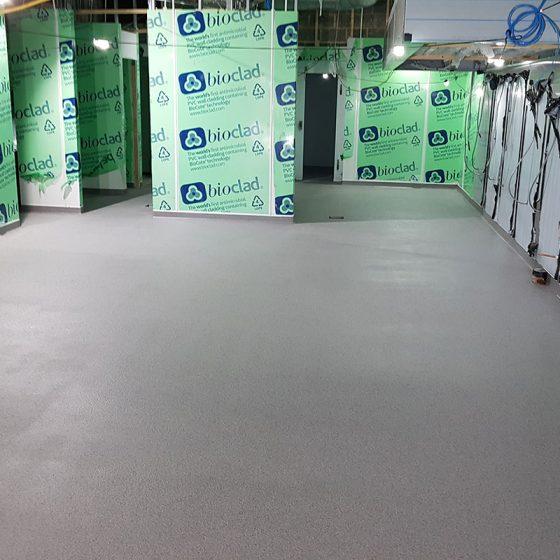 seamless resin floor system